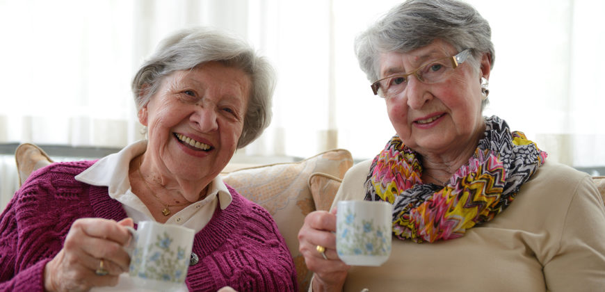 Two Senior Ladies Having Coffee 1